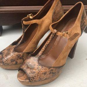Tory Burch snake skin heels
